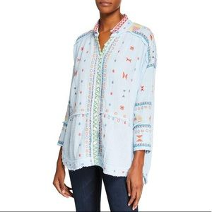 Johnny Was Ela Embroidered Button-Down Tunic